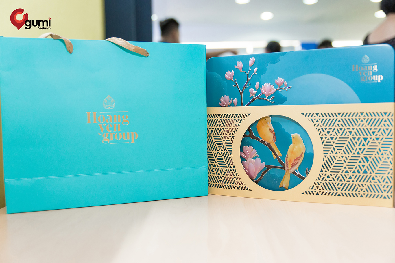 Hộp quà Trung thu dành cho các nhân viên tại gumi Vietnam.